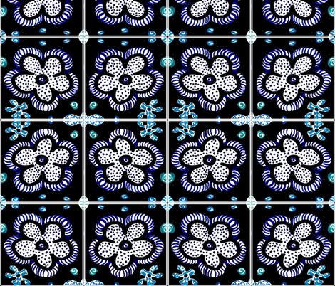 Folk Art Flowers 2   fabric by sarahdesigns on Spoonflower - custom fabric