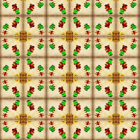 Christmas Kaleidoscope fabric by ravynscache on Spoonflower - custom fabric