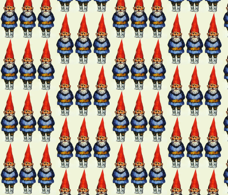 Gnomes fabric by motleycruiser on Spoonflower - custom fabric