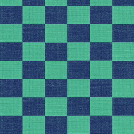 check mates - lapis and turquoise blue fabric by materialsgirl on Spoonflower - custom fabric