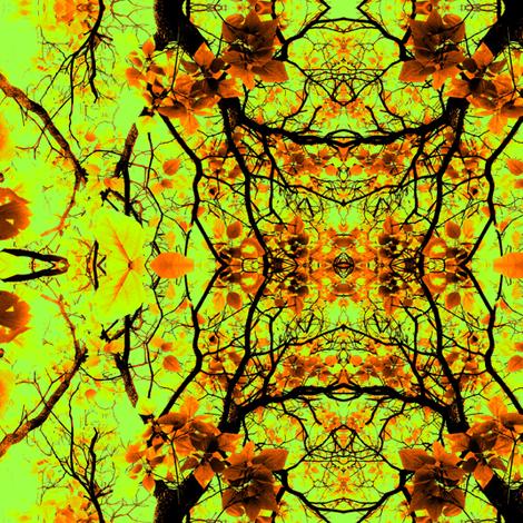 Fall Catalpa Trees fabric by ravynscache on Spoonflower - custom fabric