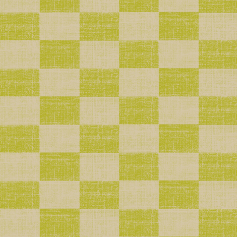 Check Mates - lime and beige fabric by materialsgirl on Spoonflower - custom fabric