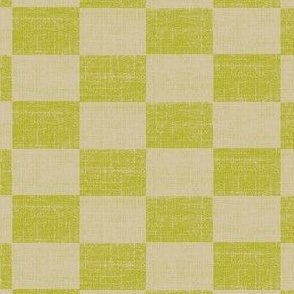 Check Mates - lime and beige