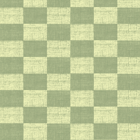 Check Mates - Green With Cream fabric by materialsgirl on Spoonflower - custom fabric