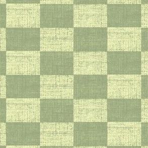 Check Mates - Green With Cream