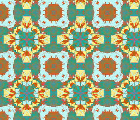 Turquoise Posh fabric by captiveinflorida on Spoonflower - custom fabric