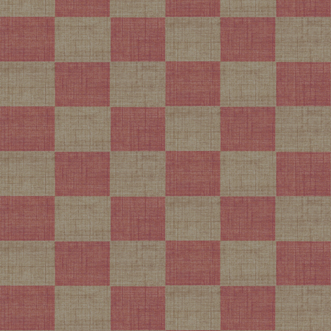 check mates - Rose and Taupe fabric by materialsgirl on Spoonflower - custom fabric