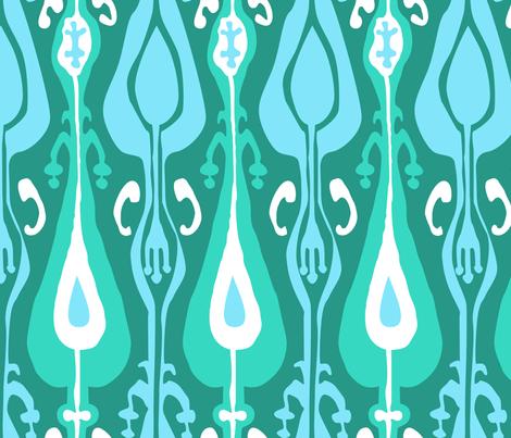 Ikat Island Emerald fabric by crisbucknall on Spoonflower - custom fabric
