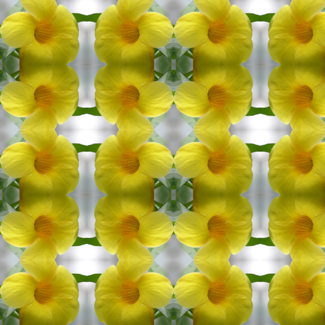 Yellow Tropical Flowers fabric by ravynscache on Spoonflower - custom fabric