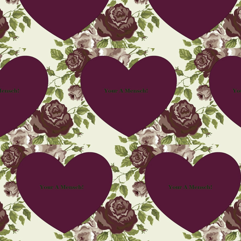 Jewish Valentine - Your A Mensch! fabric by winterblossom on Spoonflower - custom fabric