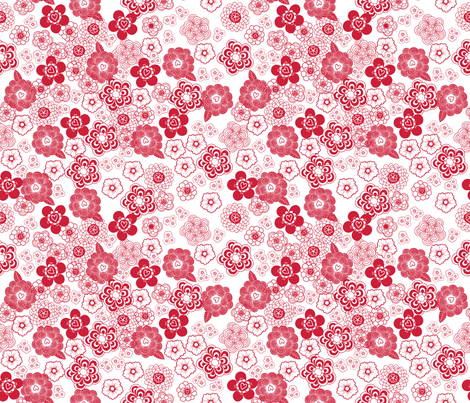 givingheartsgivinghope-redgarden fabric by vy_la_designs on Spoonflower - custom fabric