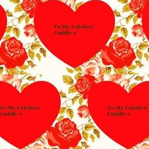Jewish Valentine - To My Lokshen Cuddle x