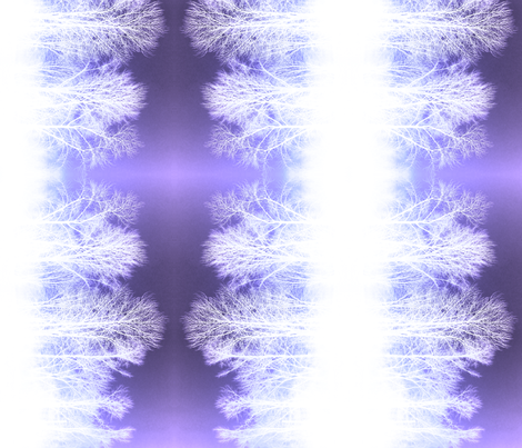 Ghost Forest v2 - purple with blue overlay fabric by jenithea on Spoonflower - custom fabric