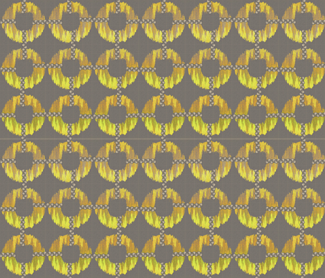 oh_my_golden_ikat fabric by glimmericks on Spoonflower - custom fabric