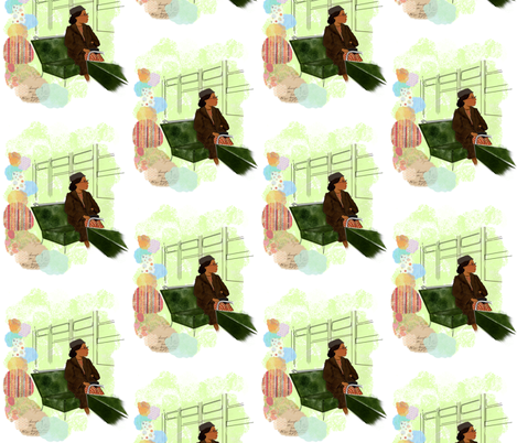 Rosa Parks fabric by vnewton on Spoonflower - custom fabric