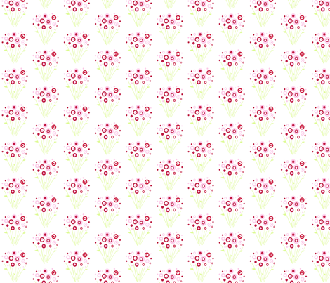 Gathered_Pink_Roses fabric by free_spirit_designs on Spoonflower - custom fabric