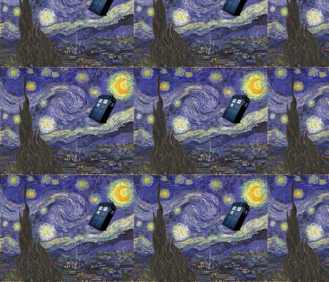 Dr. Who, Van Gogh,  , Starry Night fabric by rdsutherland on Spoonflower - custom fabric
