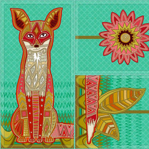 FOX warmable pillow slip cut-and-sew pattern