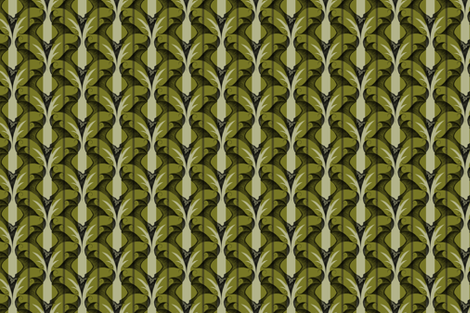 Stripes and Bats - olive fabric by thecalvarium on Spoonflower - custom fabric