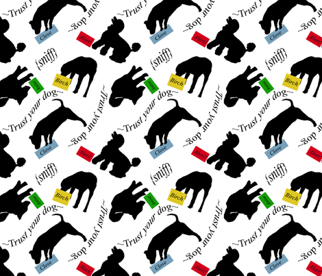 Fun and nose games fabric by rusticcorgi on Spoonflower - custom fabric