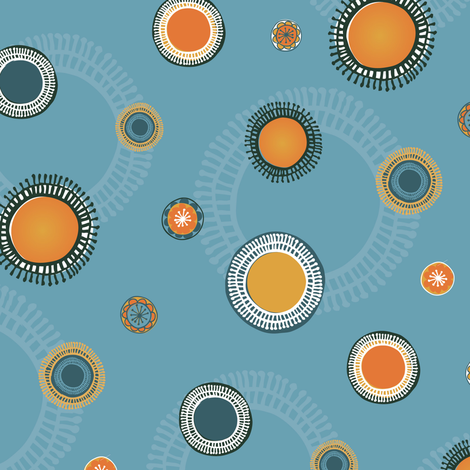 quirky suns fabric by licoricelove on Spoonflower - custom fabric