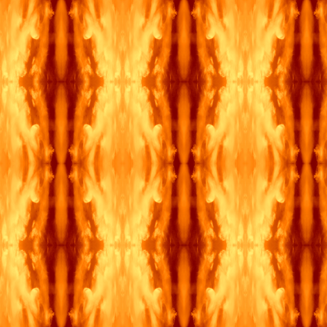 Flame Clouds fabric by ravynscache on Spoonflower - custom fabric