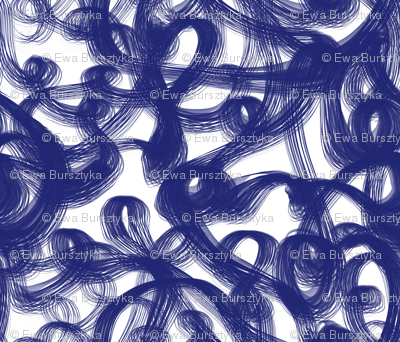 brush doodles navy