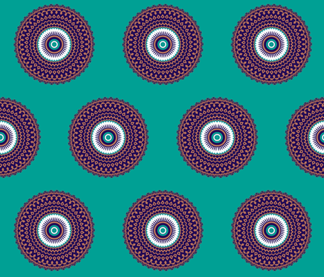 """""""You fly, I fly"""" Kaleidoscope fabric by anniedeb on Spoonflower - custom fabric"""