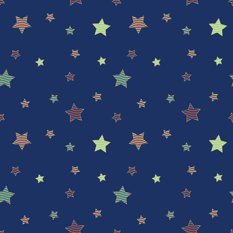 Fabric_PopStars_blue fabric by vannina on Spoonflower - custom fabric