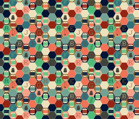grid stitching fabric by heidikenney on Spoonflower - custom fabric