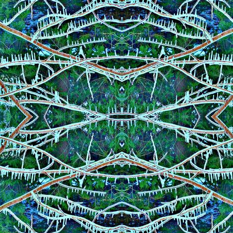 Winter Lace (enhanced) fabric by ravynscache on Spoonflower - custom fabric