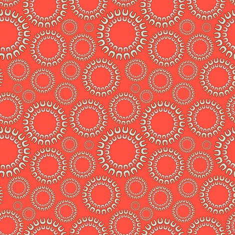 Dancing Dots Coral  fabric by joanmclemore on Spoonflower - custom fabric
