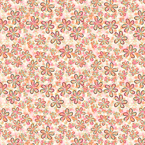 Floral Pink Ditsy  fabric by joanmclemore on Spoonflower - custom fabric