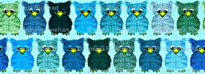 Fuzzy Blue Owlettes