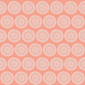Doily Daisy Coral and White