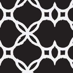 Ironwork Lattice Black and White