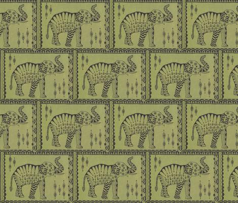 African Elephant fabric by katiame on Spoonflower - custom fabric
