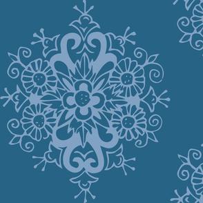 Blue on Blue Bloom