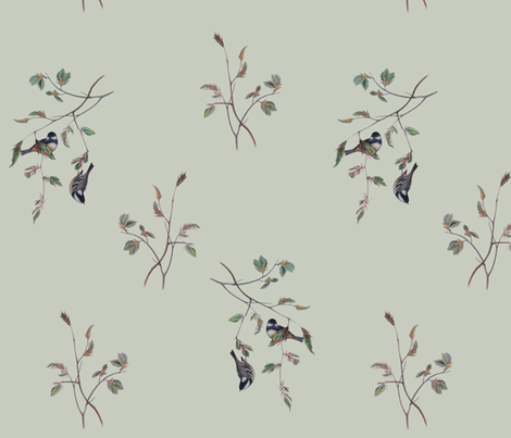 Finches fabric by jabiroo on Spoonflower - custom fabric