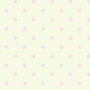 Pastel Polka Dots Pink Yellow