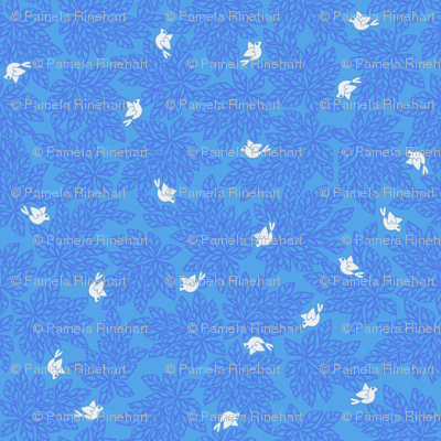 Love Dove Leaves - Blue Skies Ahead