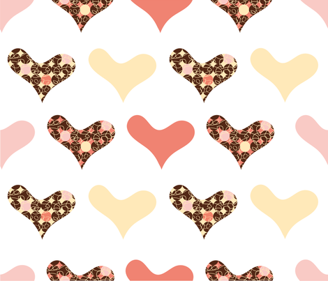 Sweet Heart fabric by pochette|paper&textile on Spoonflower - custom fabric
