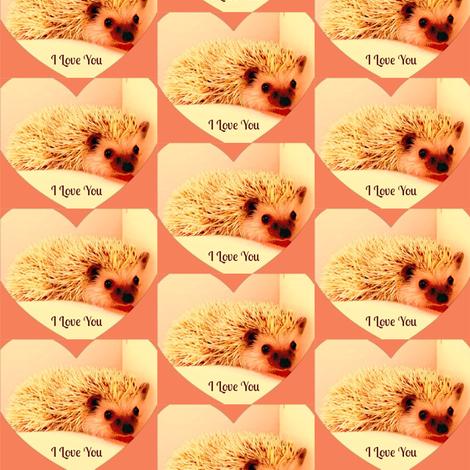 I Love You fabric by winterblossom on Spoonflower - custom fabric