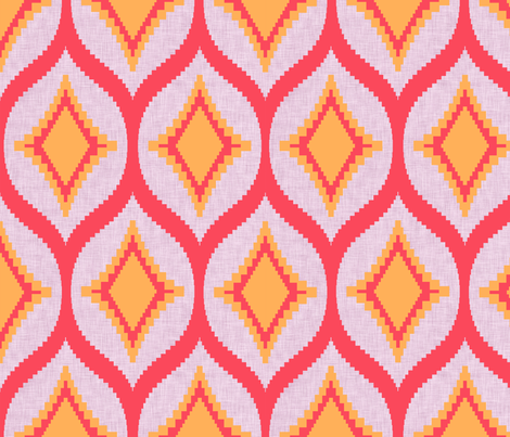 Aztec Diamond Gelato fabric by crisbucknall on Spoonflower - custom fabric