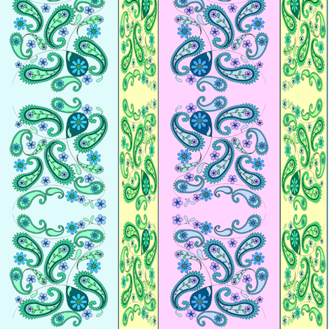 paisley stripes pastel fabric by krs_expressions on Spoonflower - custom fabric