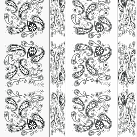 paisley black and white fabric by krs_expressions on Spoonflower - custom fabric