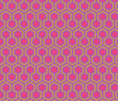 Honeycomb Geometric fabric by mariafaithgarcia on Spoonflower - custom fabric