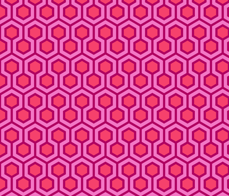 Honeycomb Geometric Pink fabric by mariafaithgarcia on Spoonflower - custom fabric