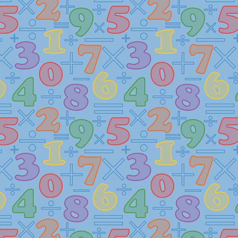 Number Fun fabric by jjtrends on Spoonflower - custom fabric