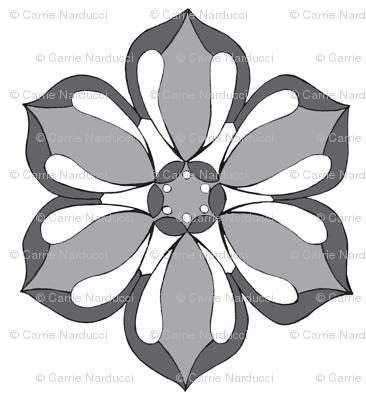 Small Six Petal Floral